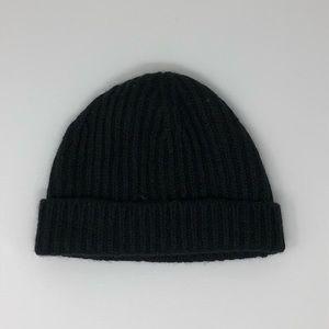 J Crew Rib Knit Hat Black